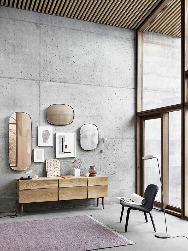 framed spiegels van muuto