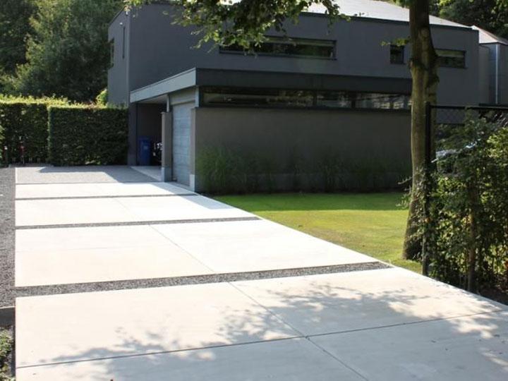Inspiratie betonnen vloerplaten in de tuin woonmooi - Foto van het terras ...