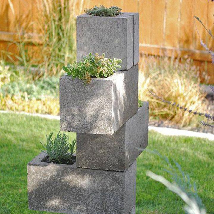 goedkope bloempot van beton