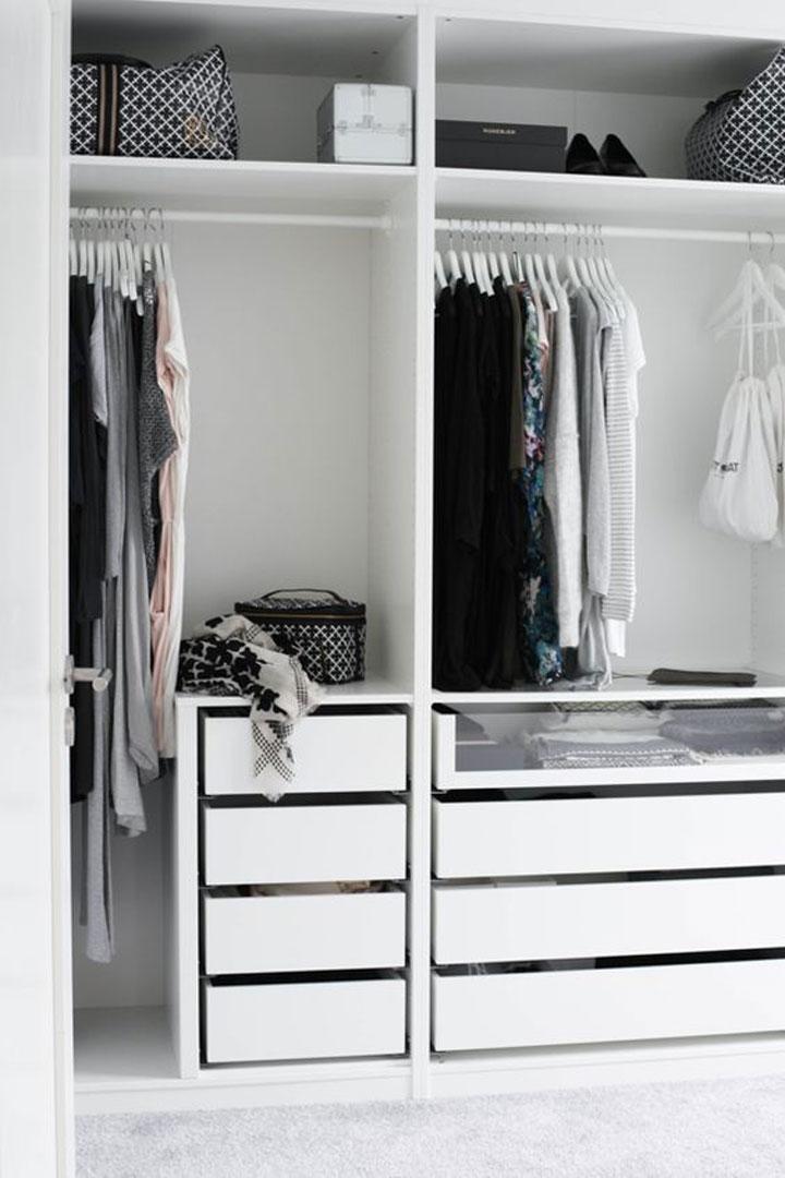 een witte moderne dressing
