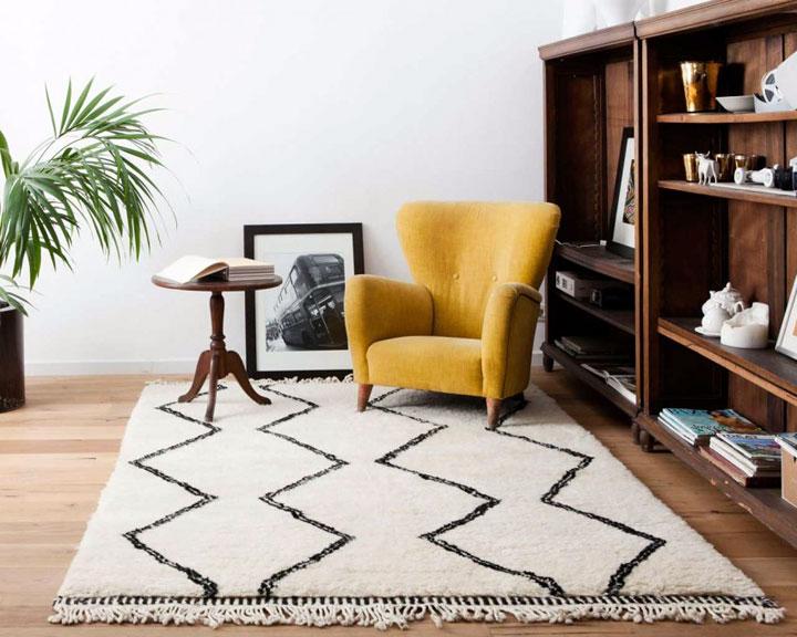 Marokkaans tapijt lichte kleuren