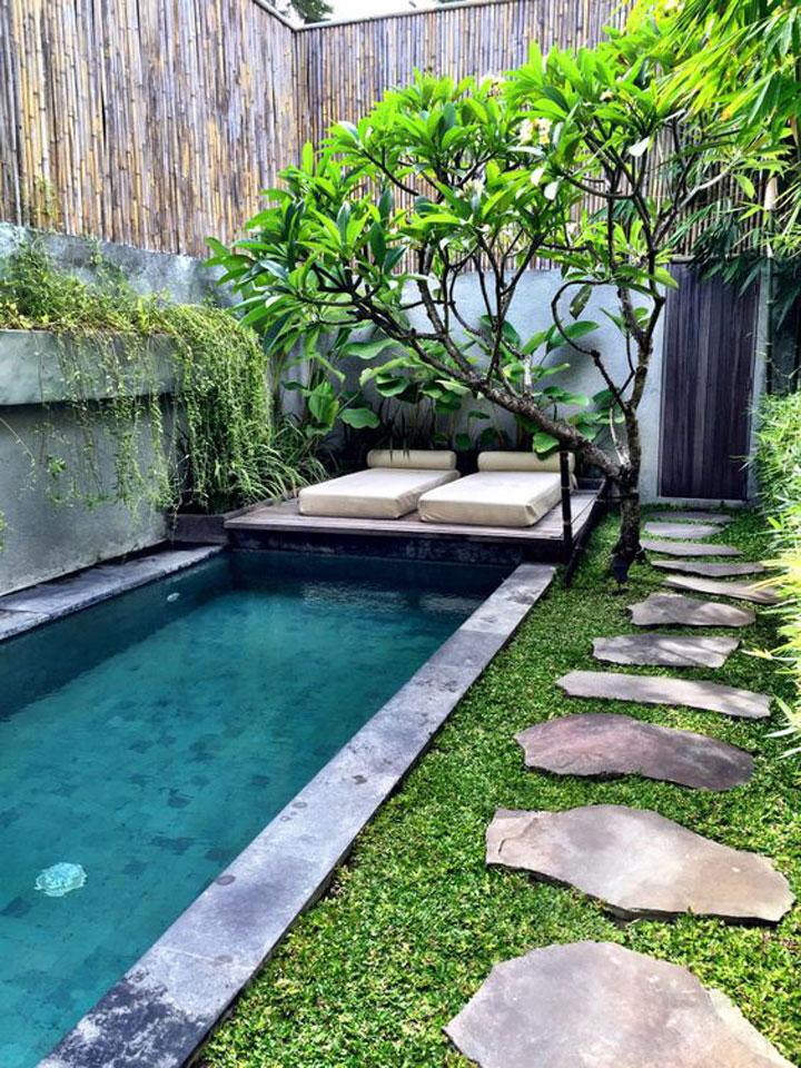 minizwembad in de tuin