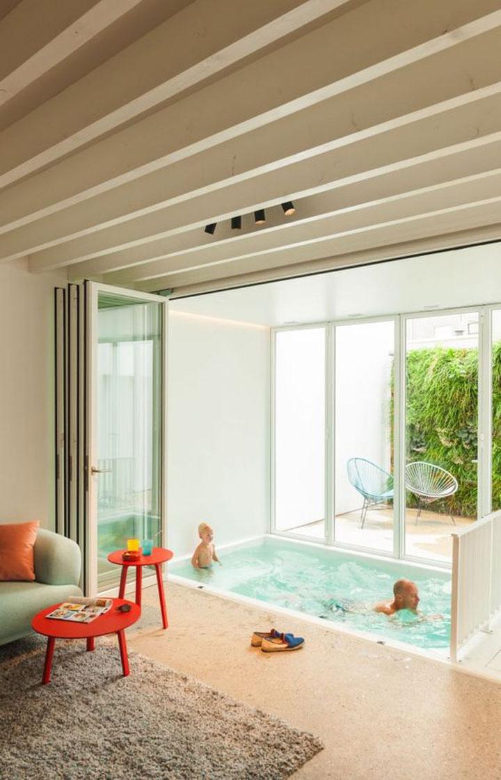 mini zwembad in huis