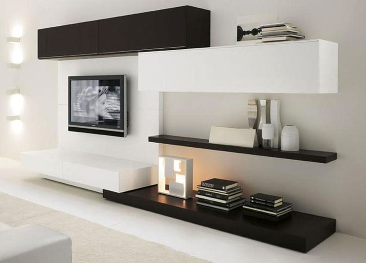 van kleine tv meubels tot grote tv wanden woonmooi. Black Bedroom Furniture Sets. Home Design Ideas