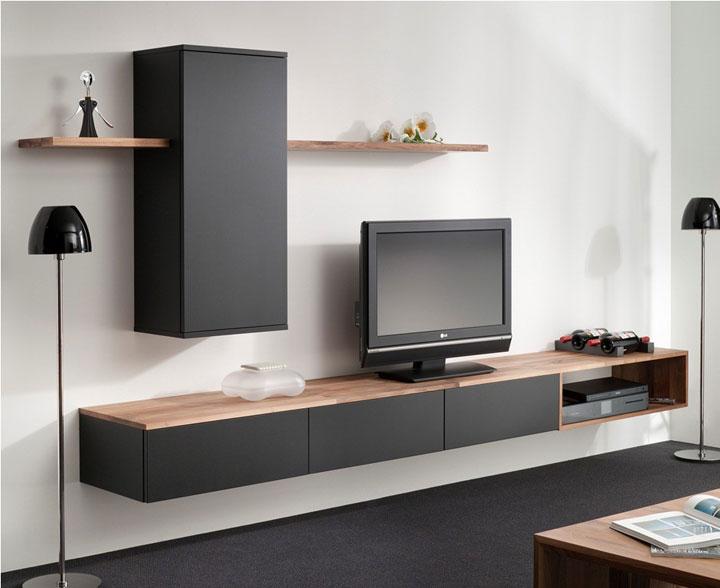 Kleuren Wanden Woonkamer : Van kleine TV-meubels tot grote TV-wanden ...