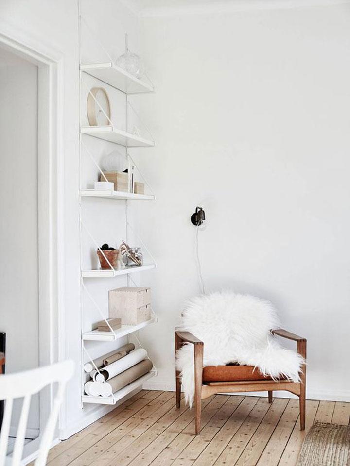 wit schapenvel als decoratie