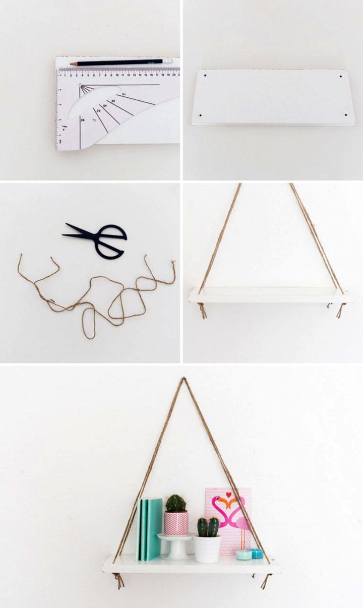 zelfgemaakte wandplank instructies