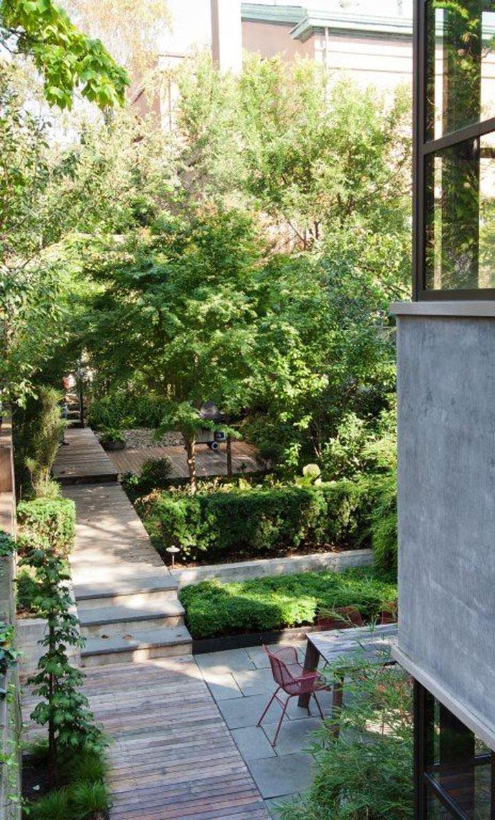 Inspirerende tuinen met niveauverschillen woonmooi for Beneden tuin