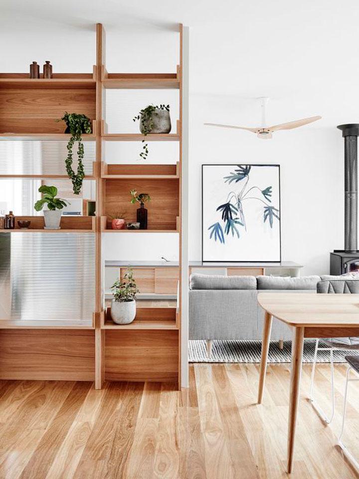 9 mooie en praktische kamerverdelers woonmooi - Scheiding houten ...