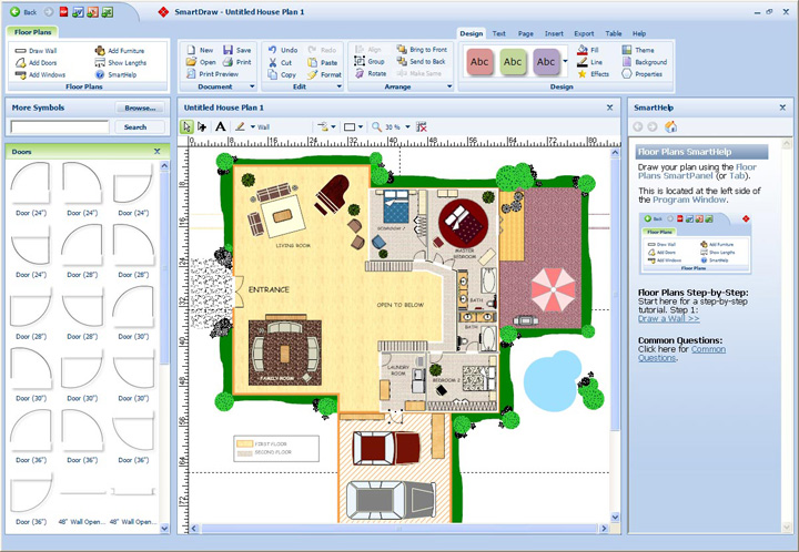 smartdraw vloerplan ontwerpen