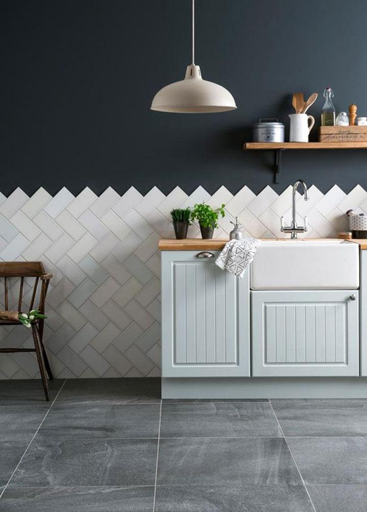 keuken met trendy tegels