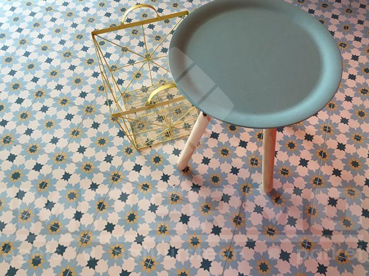 Cementtegels als kleurrijke blikvanger op de vloer woonmooi