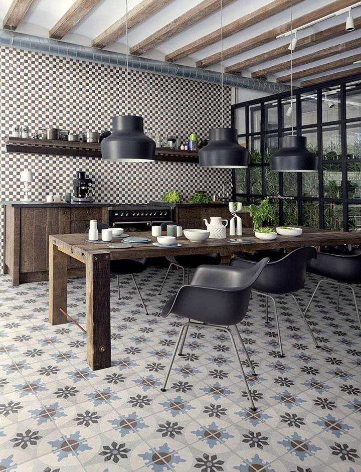 cementtegels als keukenvloer