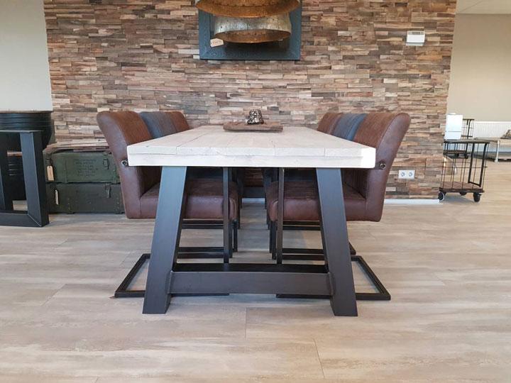 houten tafel a-frame zwart