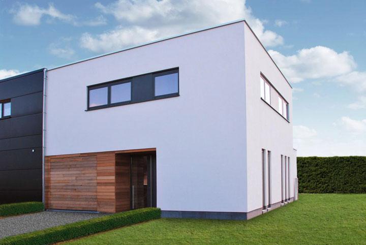 kubistische architectuur half open bebouwing
