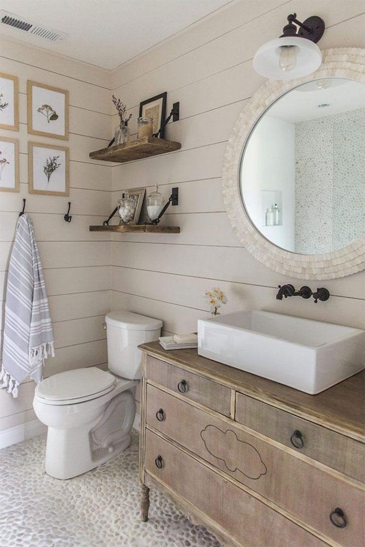 Landelijke badkamer ideeën: voorbeelden en tips - woonmooi