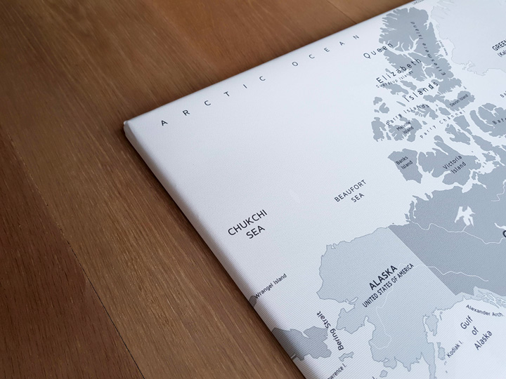 detail wereldkaart canvas foto print
