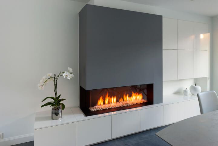 moderne gashaard wit interieur