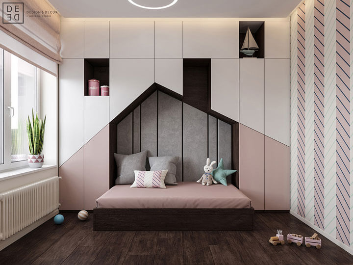 kids bed house shaped