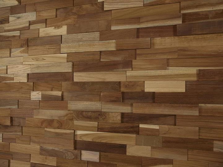 houtstrips muur