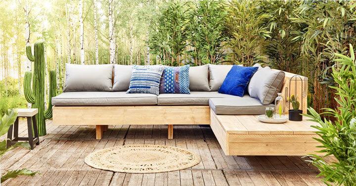 houten loungeset buiten