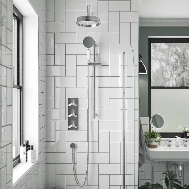 inbouw douchekraan badkamer