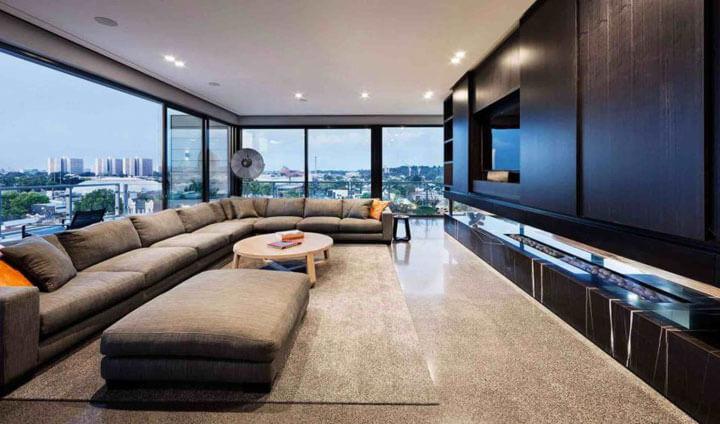 woonkamer led licht plafond