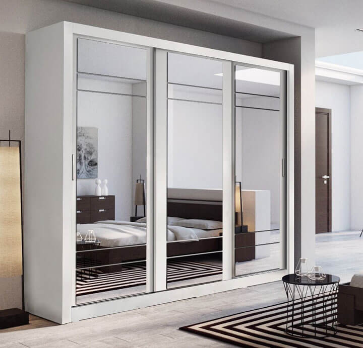 kledingkast met spiegeldeuren