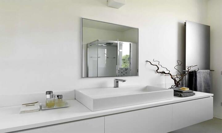 infrarood spiegel als badkamerverwarming