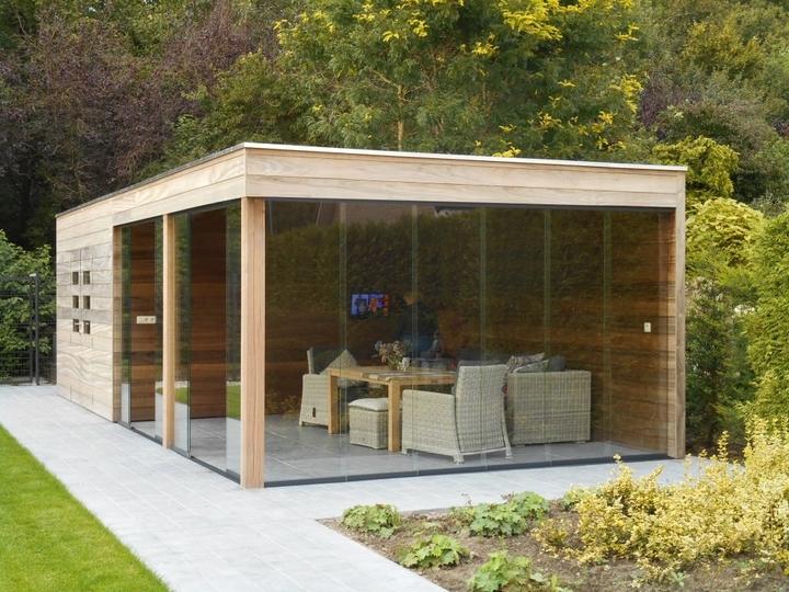 design tuinhuis plat dak