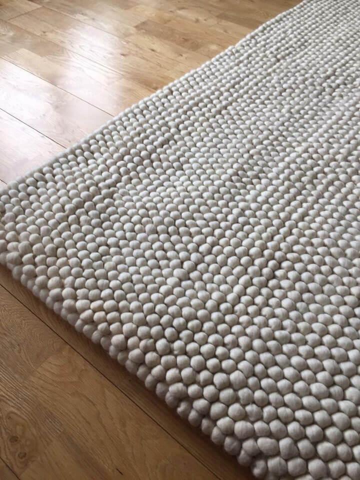 grijs vloerkleed wol