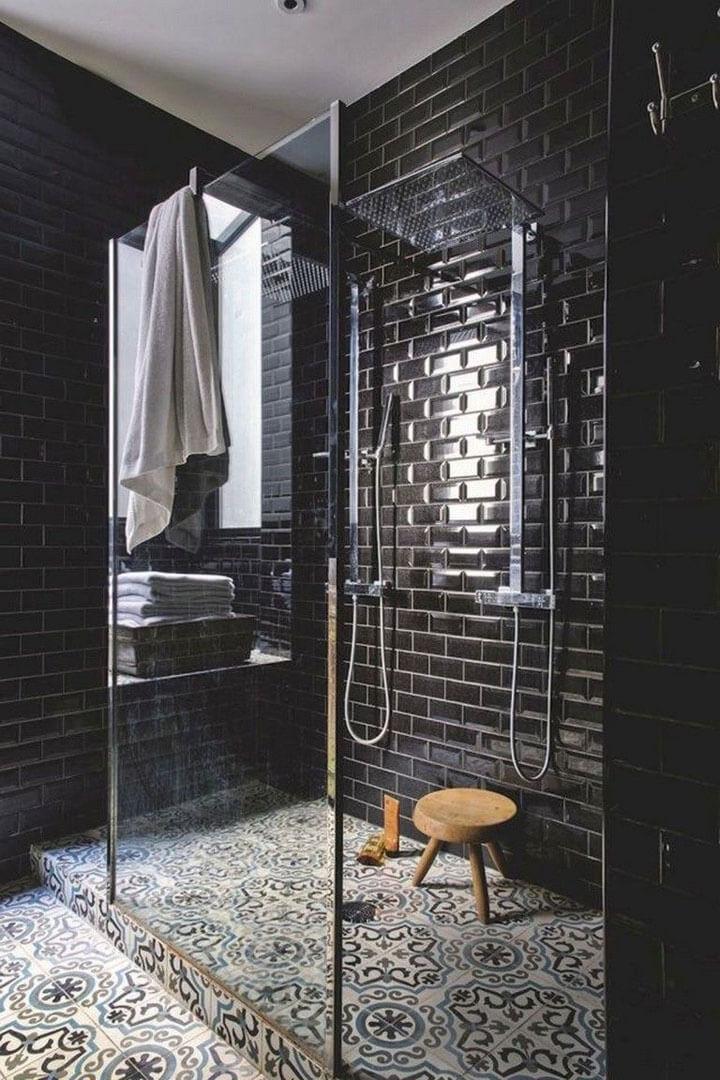 Super 8x Zwarte tegels in de douche - woonmooi IH-43