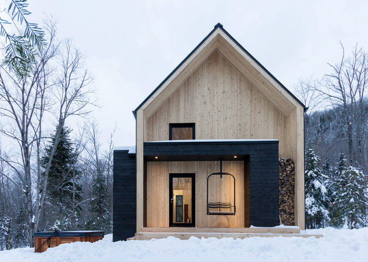 design chalet met twee verdiepingen
