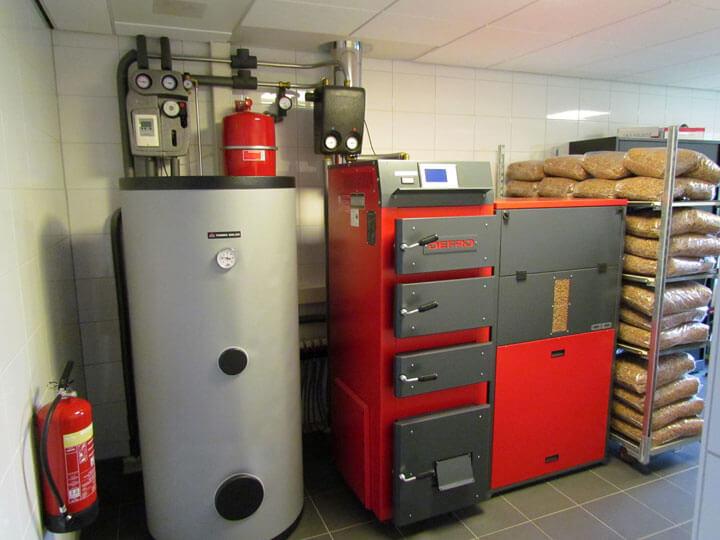 pelletketel voor centrale verwarming
