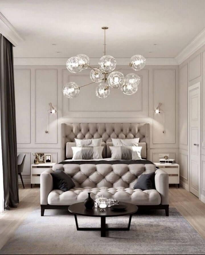 slaapkamer verlichting met plafondlampen en wandlampen