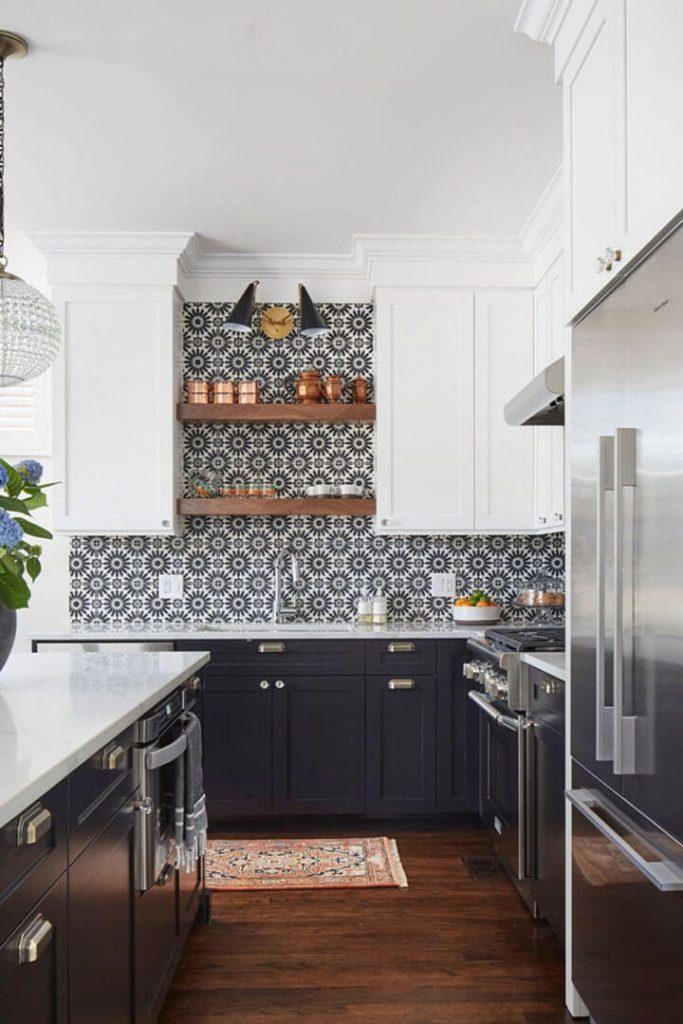 cementtegels spatwand keuken