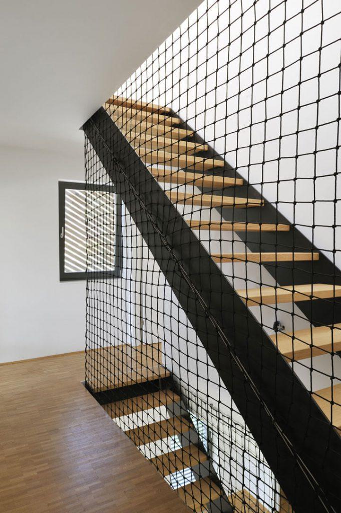 touwnet railing trap