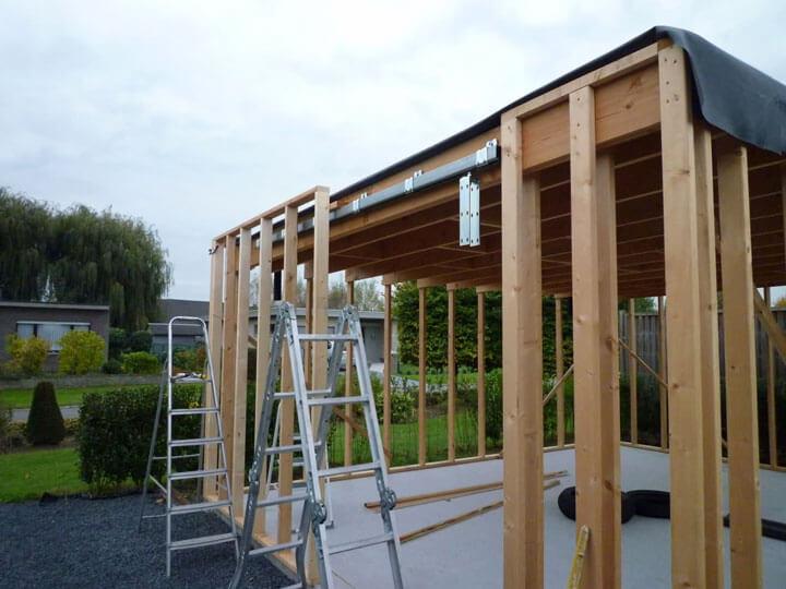 zelf tuinhuis bouwen