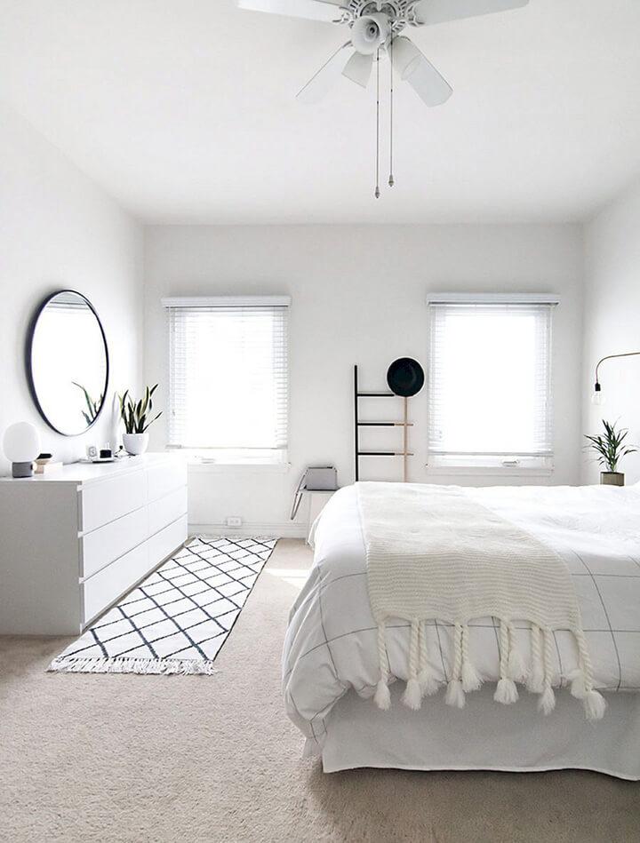zwart wit slaapkamer scandinavisch