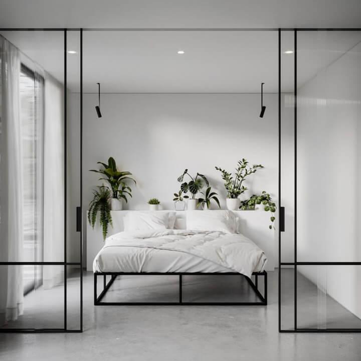 slaapkamer stalen deuren met glas