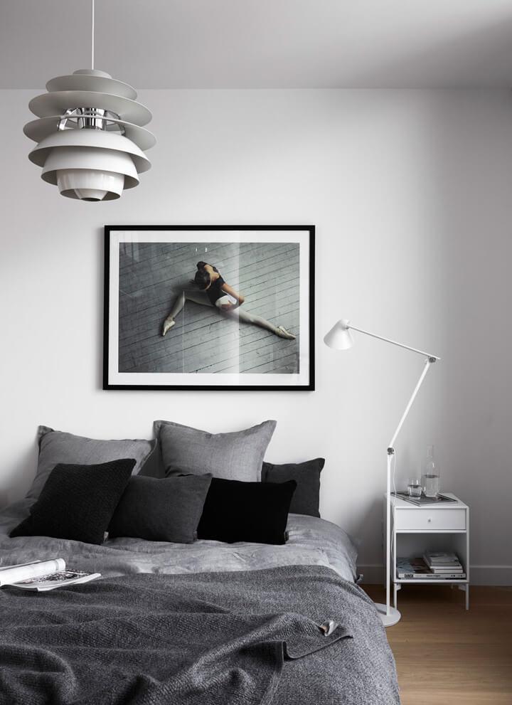 zwart wit slaapkamer inspiratie