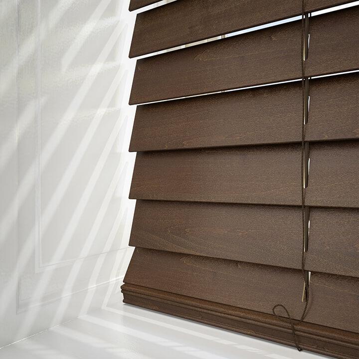 houten jaloezieen walnoot