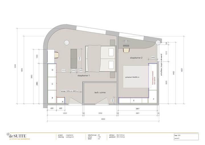 ontwerp plan slaapkamer op maat