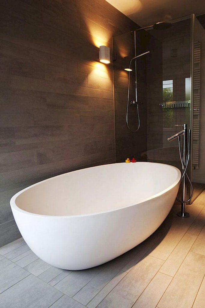 modern vrijstaand bad ovaal wit