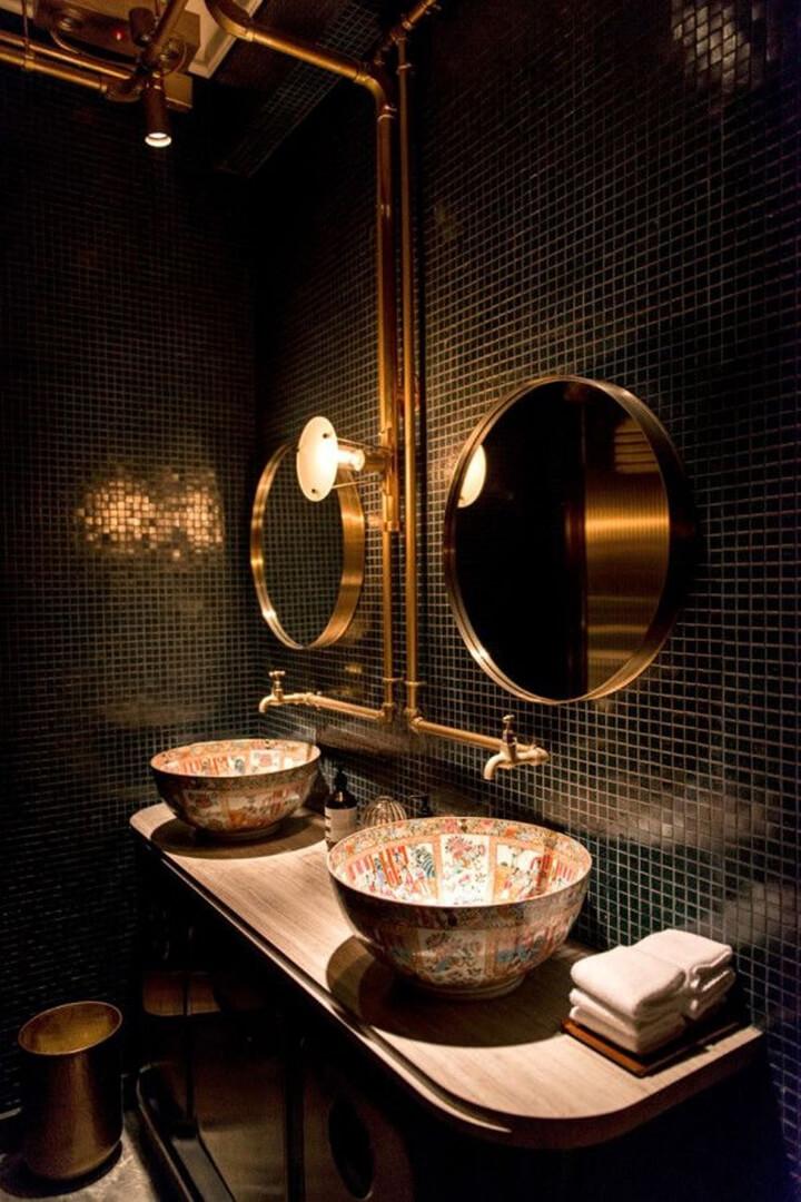 creatieve toilet inrichting