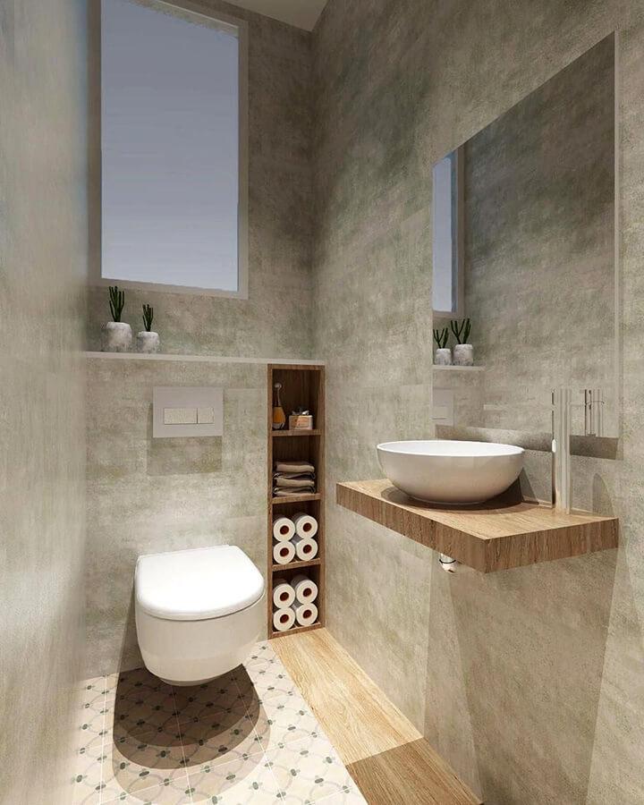 inrichting toilet hang-wc met opbergruimte