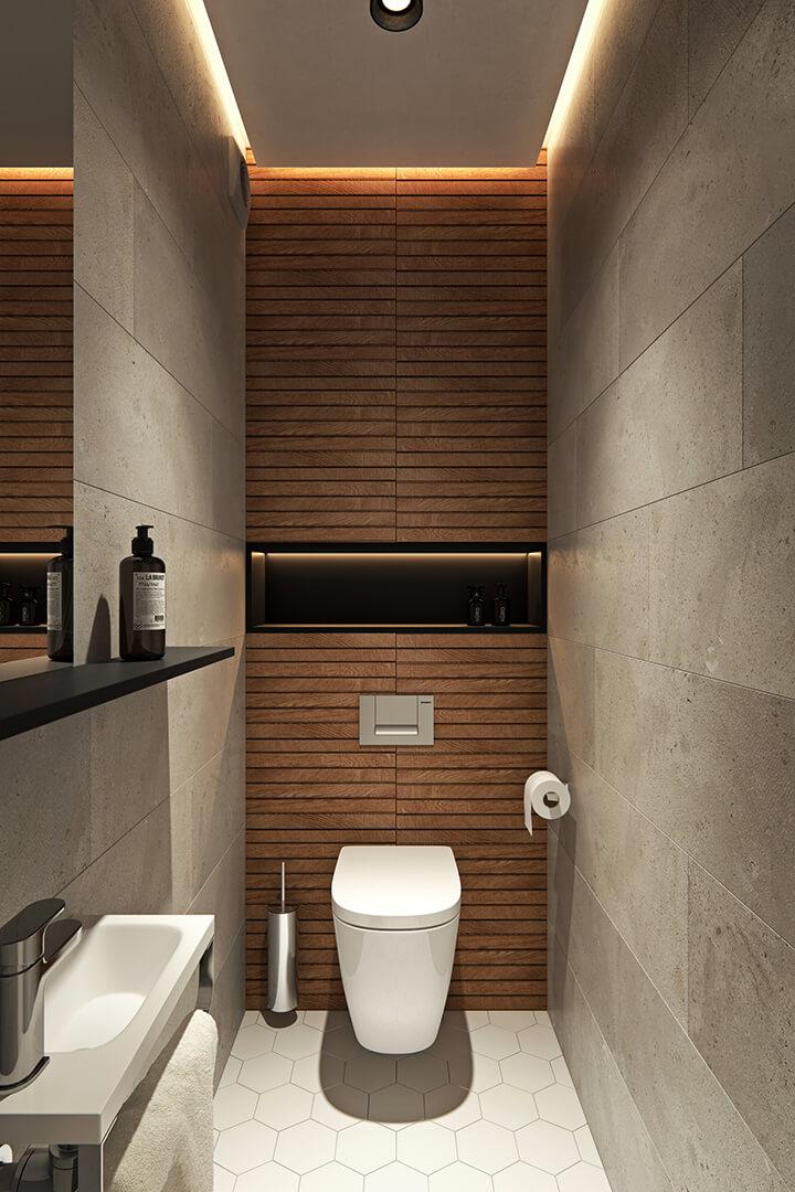 toilet met indirecte verlichting